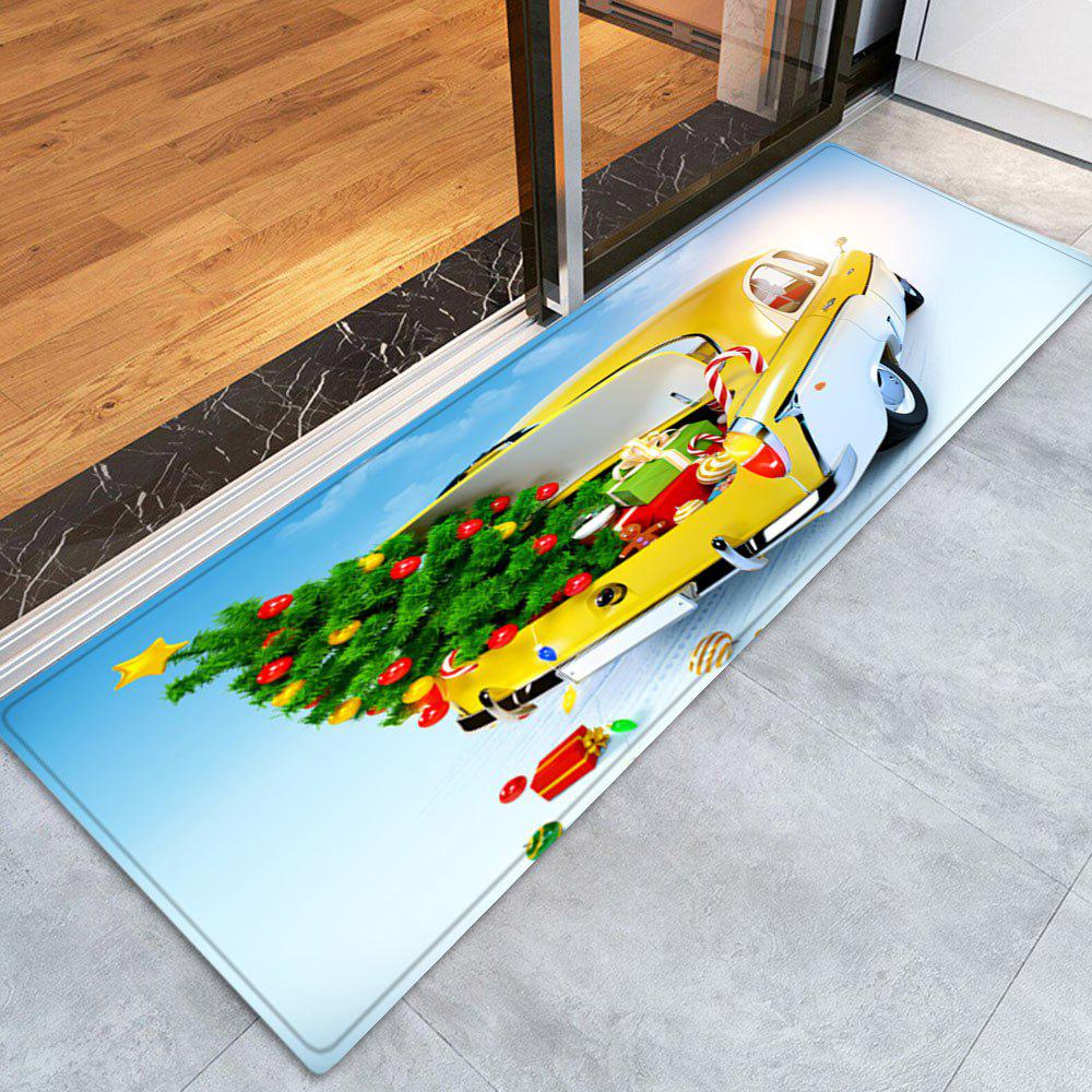 Christmas Tree In Car Pattern Indoor Outdoor Area Rug - COLORMIX W24 INCH * L71 INCH