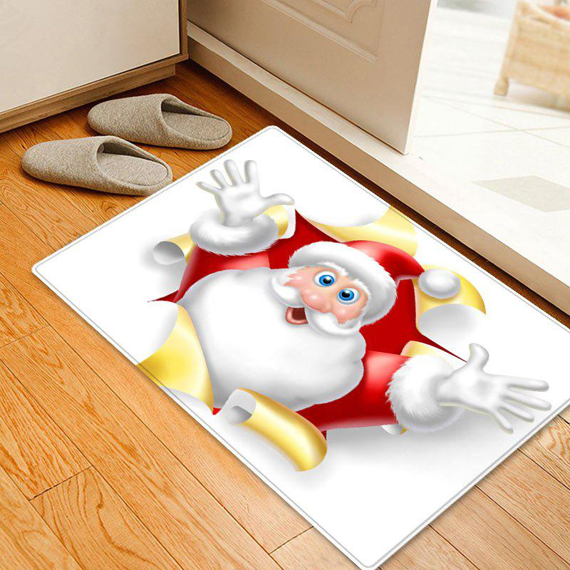 Christmas Santa Broken Pattern Indoor Outdoor Area Rug - WHITE W16 INCH * L24 INCH
