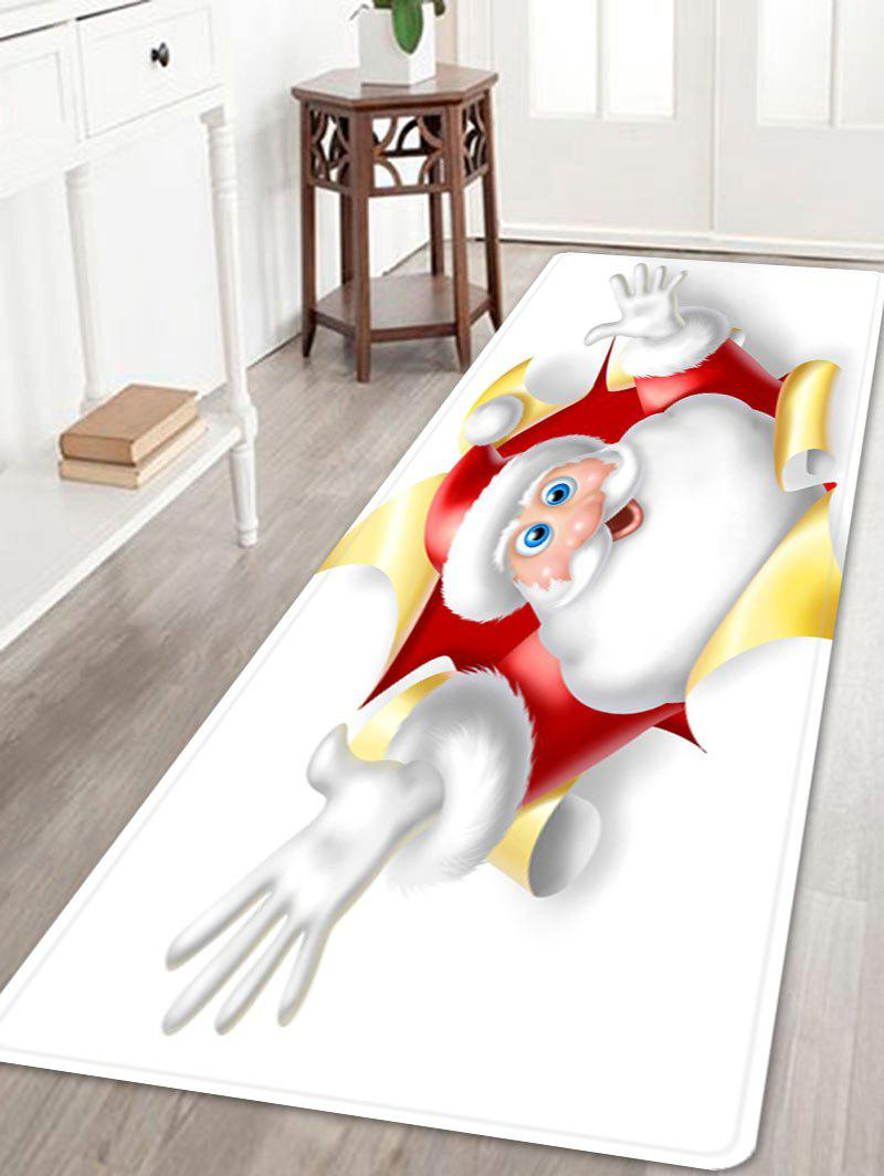 Christmas Santa Broken Pattern Indoor Outdoor Area Rug - WHITE W24 INCH * L71 INCH