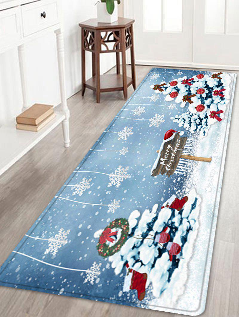 2018 Christmas Trees Snowflakes Pattern Indoor Outdoor Area Rug Colormix W Inch L Inch In Bath