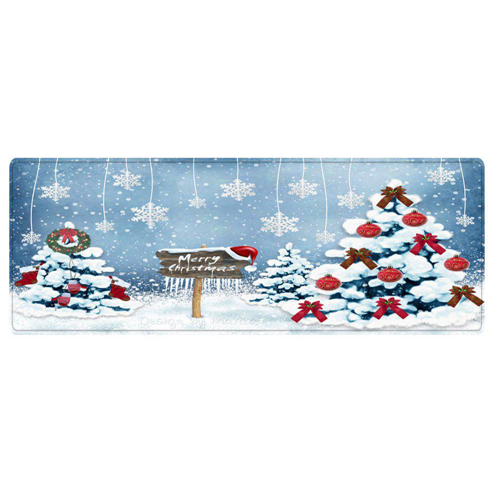 Christmas Trees Snowflakes Pattern Indoor Outdoor Area Rug - COLORMIX W24 INCH * L71 INCH