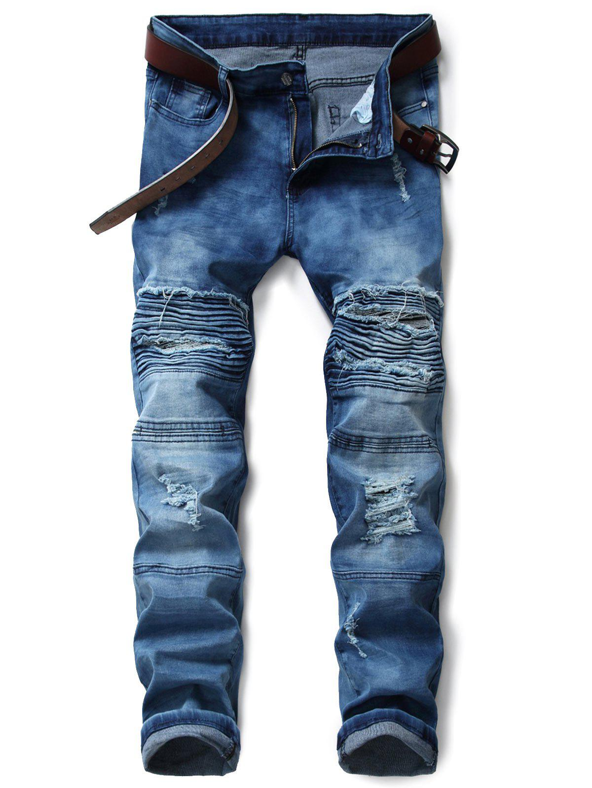 Zip Fly Distressed Tie Dyed Biker Jeans the 5 7 9 extrusion clamp rg6 rg11 pressing line clamp cable f head special tools