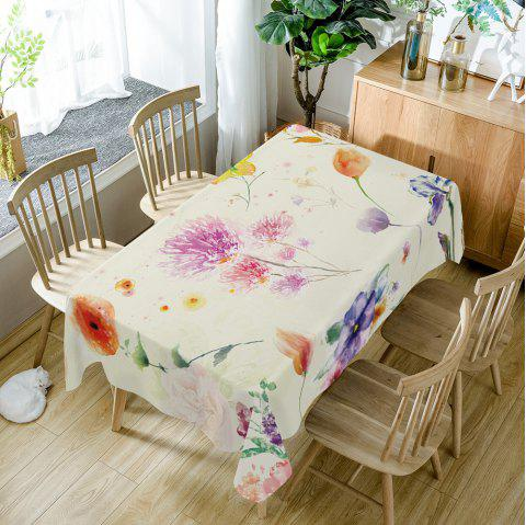 Flower Print Fabric Table Cloth - COLORMIX W54 INCH * L54 INCH