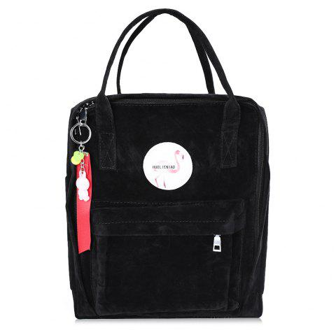 Multi Function Flamingo Backpack - BLACK