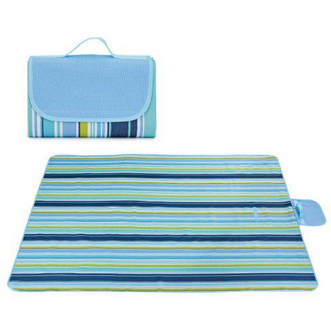 Outdoor Camping Beach Waterproof Oxford Picnic Blanket - BLUE 195*200CM