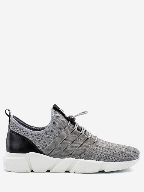 Casual Breathable Sneakers with Cord-lock Closure - GRAY 42