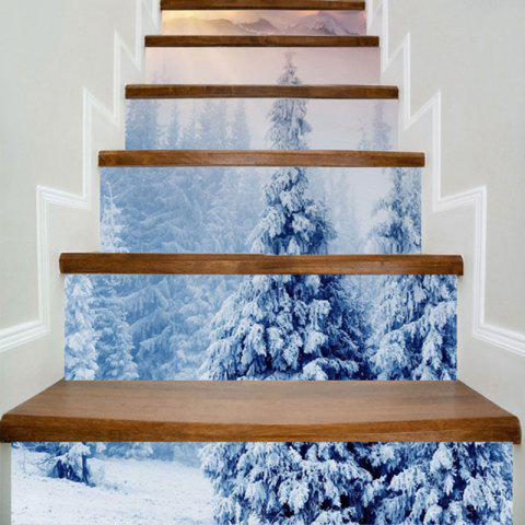 Snowscape Printed DIY Decorative Stair Stickers - COLORMIX 100*18CM*6PCS
