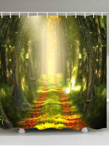 Sunlight Forest Pathway Printed Bath Curtain