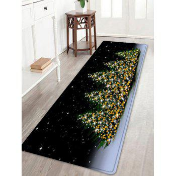 Christmas Trees Night Pattern Indoor Outdoor Area Rug - COLORMIX COLORMIX