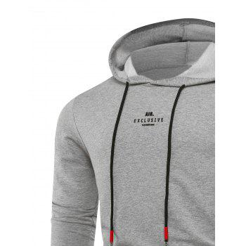 Zipper Graphic Emboss Pull à capuche - Gris Clair 3XL