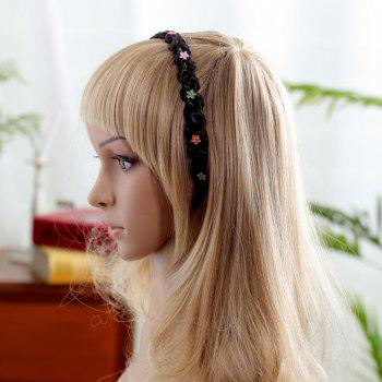 Decorative Acrylic Flowers Synthetic Wig Hair Band - CHOCOLATE 20INCH