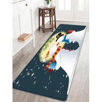 Christmas Moon Snowmen Couple Pattern Indoor Outdoor Area Rug - COLORMIX COLORMIX