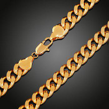 Chunky Link Chain Necklace -  GOLDEN