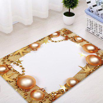 Christmas Balls Chain Pattern Indoor Outdoor Area Rug - GOLDEN W16 INCH * L24 INCH