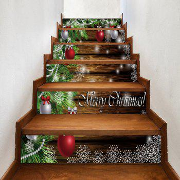 Christmas Baubles Pine Tree Pattern Stair Stickers