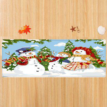 Christmas Snowmen Family Trees Pattern Indoor Outdoor Area Rug - COLORMIX COLORMIX