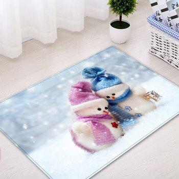 Christmas Snowman Lover Pattern Indoor Outdoor Area Rug - WHITE W20 INCH * L31.5 INCH
