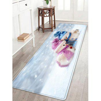 Christmas Snowman Lover Pattern Indoor Outdoor Area Rug - WHITE WHITE