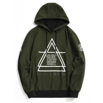 Graphic Flocking Hoodie - ARMY GREEN ARMY GREEN