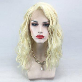 Medium Side Parting Natural Wavy Lace Front Synthetic Wig - VENETIAN GOLD VENETIAN GOLD