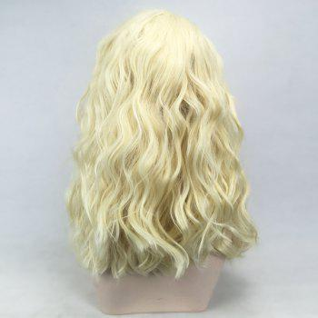 Medium Side Parting Natural Wavy Lace Front Synthetic Wig - VENETIAN GOLD