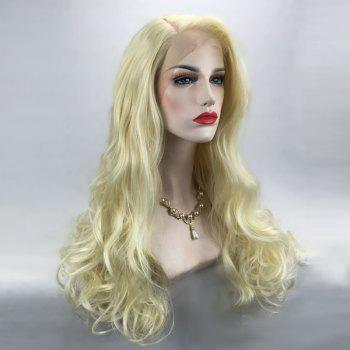 Long Side Parting Fluffy Wavy Synthetic Lace Front Wig -  VENETIAN GOLD