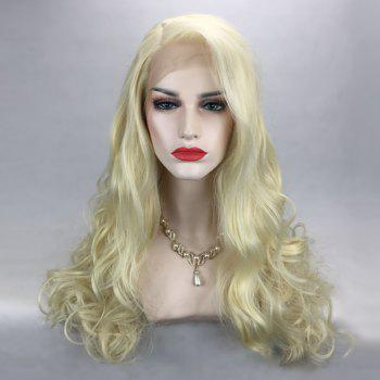 Long Side Parting Fluffy Wavy Synthetic Lace Front Wig - VENETIAN GOLD VENETIAN GOLD