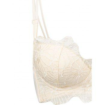 Double Strap Embroidered Underwire Bra Set - COMPLEXION COMPLEXION
