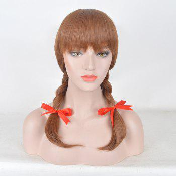 Medium Full Bang Braids Annabelle 2 Cosplay Synthetic Wig - DARK AUBURN DARK AUBURN