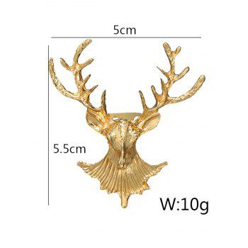 Alloy Christmas Deer Brooch -  GOLDEN