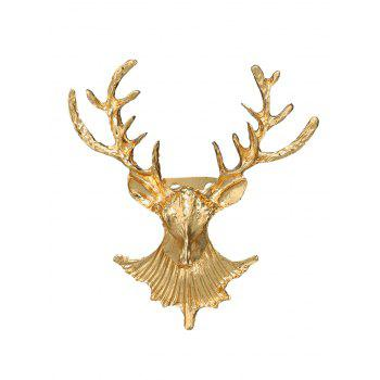 Alloy Christmas Deer Brooch - GOLDEN GOLDEN