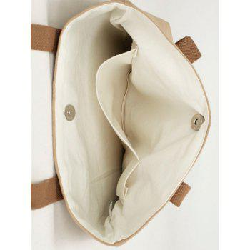 Eco Canvas Shoulder Bag -  KHAKI