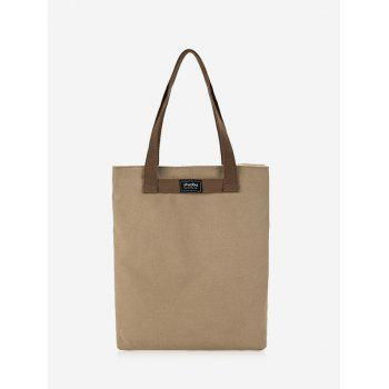 Eco Canvas Shoulder Bag - KHAKI KHAKI