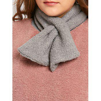 Plus Size Fleece Color Block Sweatshirt with Scarf - LIGHT APRICOT PINK LIGHT APRICOT PINK