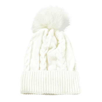 Outdoor Striped Pattern Embellished Knitted  Pom Beanie - WHITE