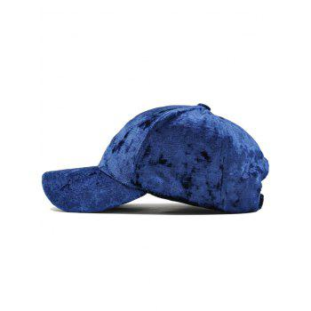 Rose Embroidered Embellished Suede Graphic Hat -  ROYAL