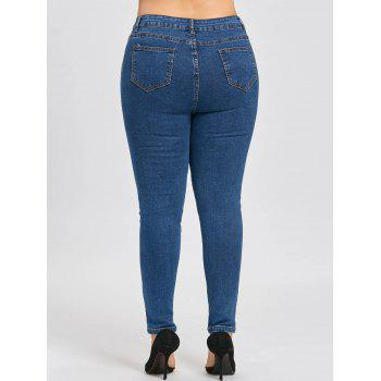 Classic Plus Size Narrow Leg Jeans - DENIM BLUE 3XL