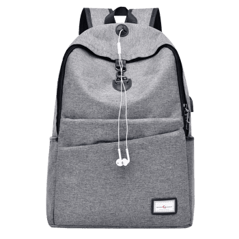 USB Charging Port Multi Function Backpack - GRAY