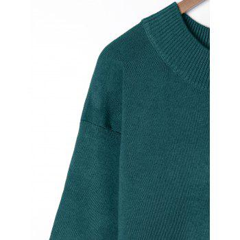 Plus Size Wide Sleeve Two Tone Sweater - OLIVE GREEN OLIVE GREEN