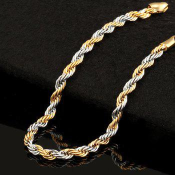 Two Tone Alloy Link Chain Bracelet - COLORMIX