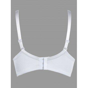 Lace Push Up Bra with Padded Cups - LIGHT GREY 85B