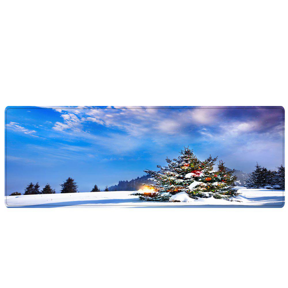 Christmas Tree Forest Pattern Indoor Outdoor Area Rug - BLUE W16 INCH * L47 INCH