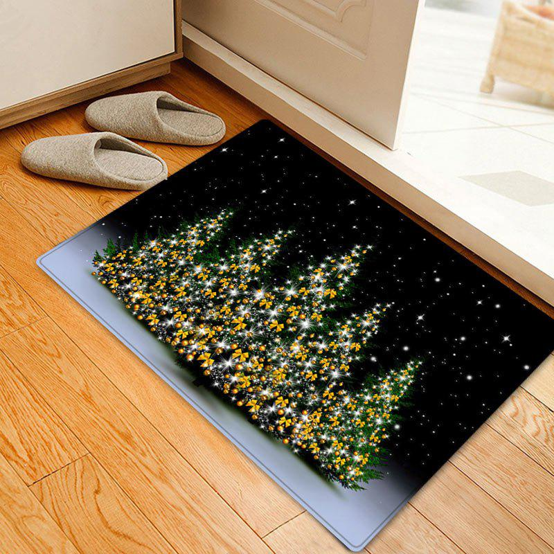 Christmas Trees Night Pattern Indoor Outdoor Area Rug - COLORMIX W16 INCH * L24 INCH
