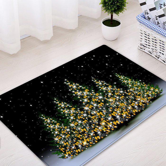 Christmas Trees Night Pattern Indoor Outdoor Area Rug - COLORMIX W20 INCH * L31.5 INCH