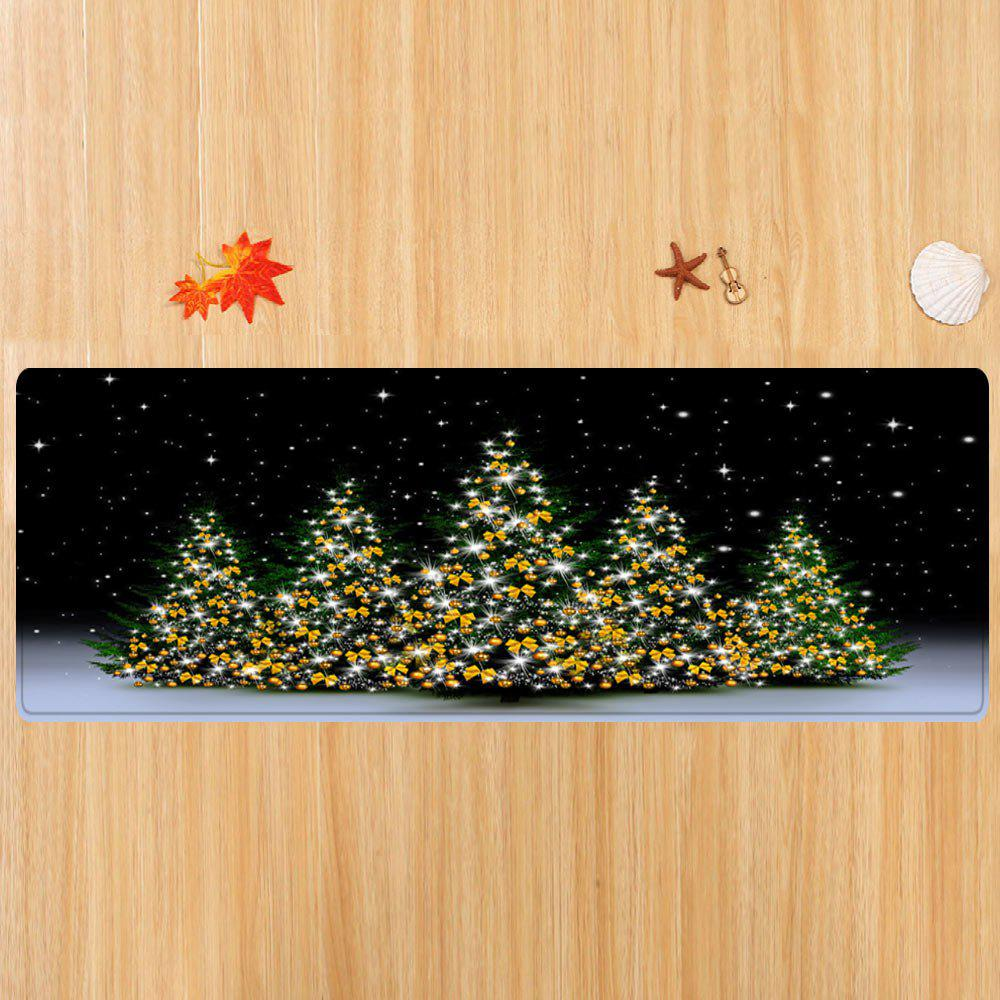 Christmas Trees Night Pattern Indoor Outdoor Area Rug - COLORMIX W24 INCH * L71 INCH