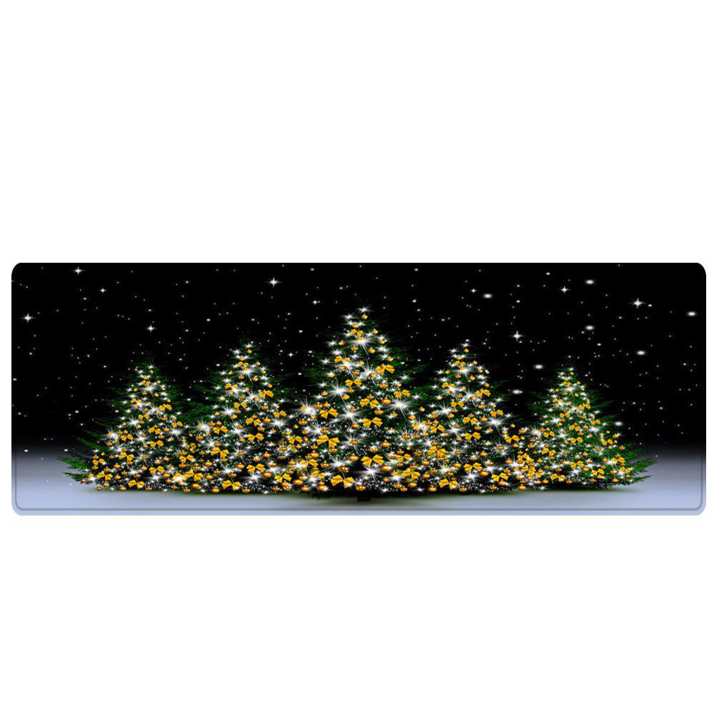 Christmas Trees Night Pattern Indoor Outdoor Area Rug - COLORMIX W16 INCH * L47 INCH