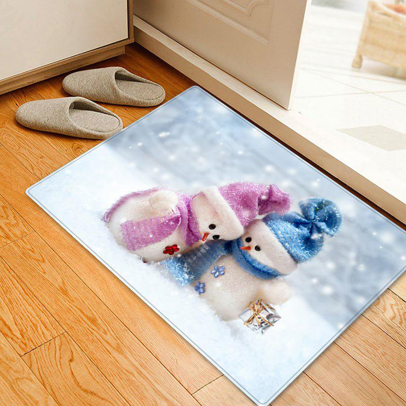 Christmas Snowman Lover Pattern Indoor Outdoor Area Rug - WHITE W16 INCH * L24 INCH