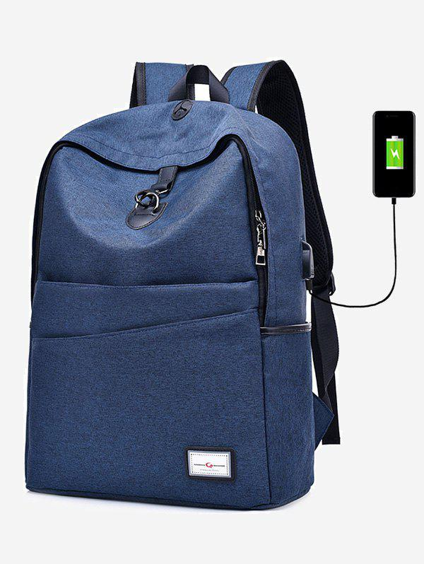 Port de chargement USB Multi Function Backpack - Bleu