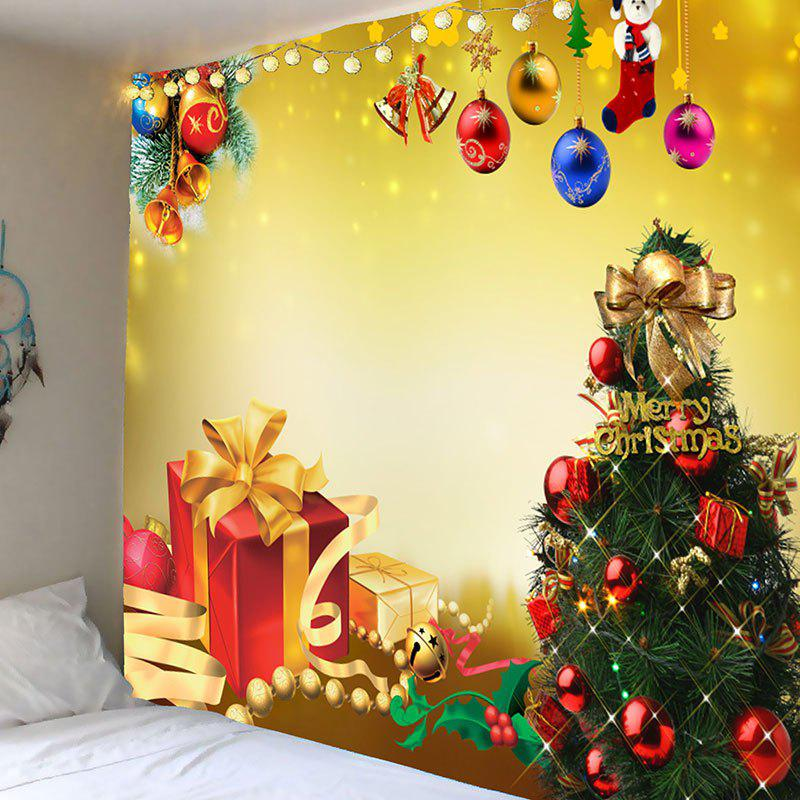 Christmas Tree Decorations And Gifts Patterned Tapestry