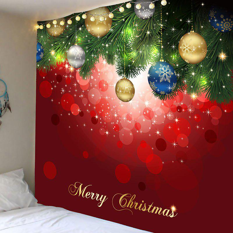 Christmas Hanging Balls Pattern Wall Art Tapestry waterproof merry christmas graphic pattern wall hanging tapestry